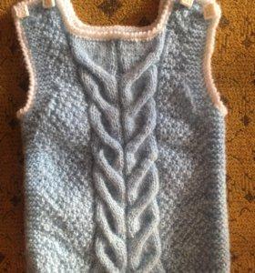 Безрукавка вязанье