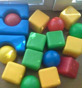 Игрушки,кубики,фитбол