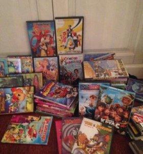 DVD диски(коллекция современ. мульфильмов) -60шт