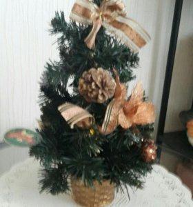 Елочка новогодняя 33 см