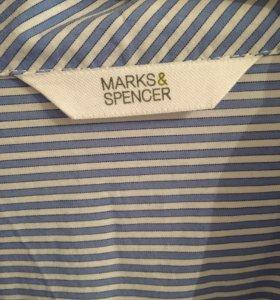 Рубашка в синюю полоску Marks&Spencer