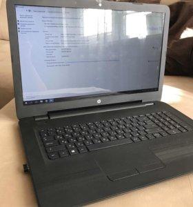 Ноутбук HP17-y058ur практически новый. На гарантии