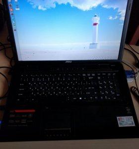 Игровой ноутбук MSI 16gb RAM,750 Gb hdd, 250Gb SSD