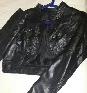 Куртка-жакет кожаный