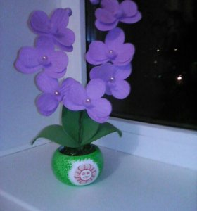 Орхидеи с бутонами. Цветы из фоамирана.