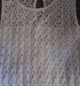 Платье белое вязка