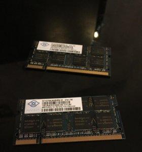 Модуль оперативной памяти Nanya 1gb ddr2 2 шт