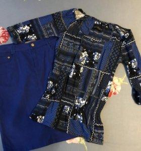 Юбка р-р 48 + блузка