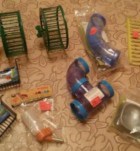 Полки, колеса, игрушки для попугаев