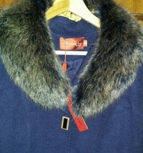 Драповое пальто новое с бирочкой