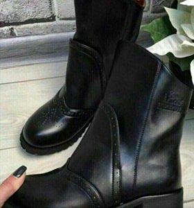 "Ботинки ""Hermes"" ,новые, зима."