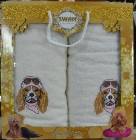 Махровые полотенца с собаками
