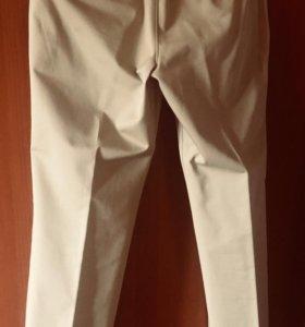 Прямые брюки из плотного хлопка