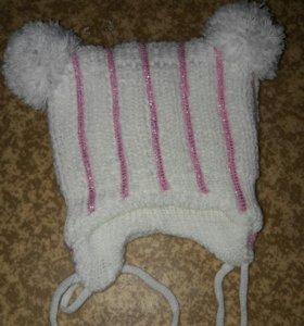 шапка для новорожденной