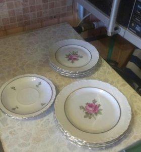 Тарелки из Сервиза Роза KAHLA