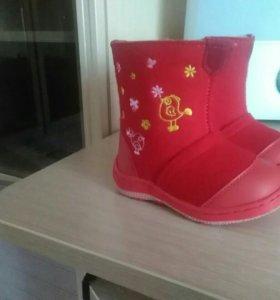 Новые зимние ботиночки для девочки