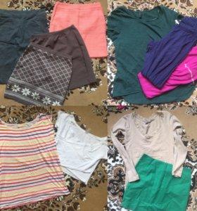 Вещи пакетом (юбки,кардиган, кофты)
