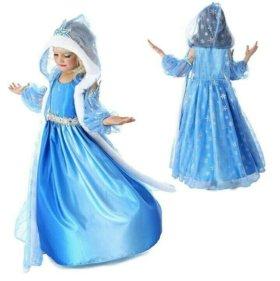 Новогодний костюм принцессы Эльзы Холодное сердце