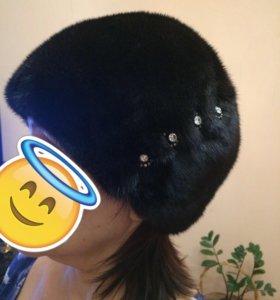 Норковая шапка . Есть утяжка