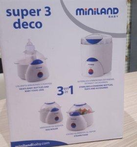 Стерилизатор, пароварка, нагреватель3 в 1 Miniland