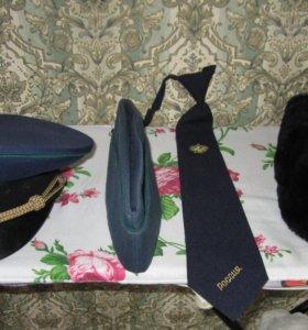 Шапки  59-60 р-р, фуражка, пилотка, галстук, новые