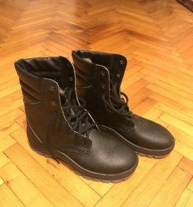 Зимние ботинки сапоги берцы натуральный мех