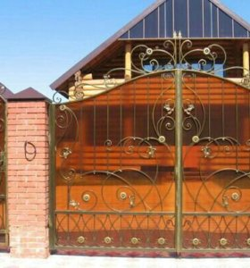 Ворота кованые закрытые. Ручная работа