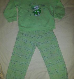 Пижама теплая на 2г