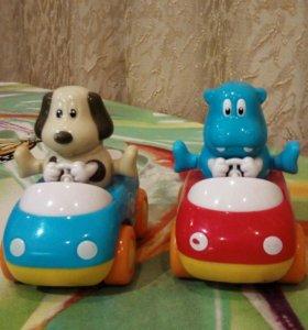 Машинки со зверятами