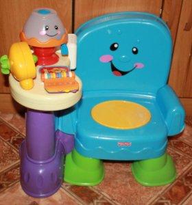 Интерактивный стульчик fisher price