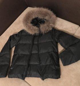 Куртка женская чёрная с мехом