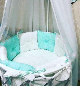 Бортики-подушечки в кроватку
