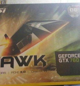 Видеокарта msi GEFORCE GTX 760 HAWK 2GB