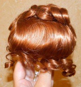 Новый парик для куклы на голову 25-28 см