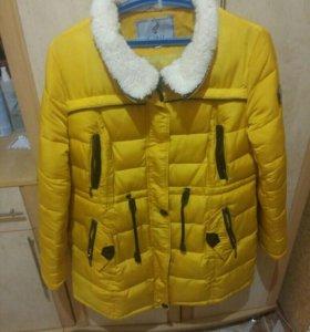 Куртка-пальто стеганная зимняя