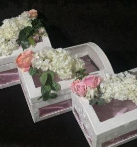 Набор коробок для свадьбы