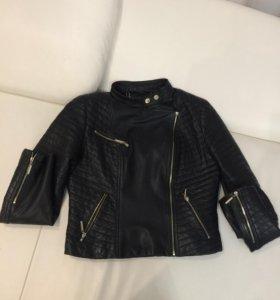 Кожаная куртка 44-46 размер