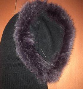 Капор Шапка- капюшон с мехом