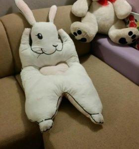 Большой коврик-матрасик заяц