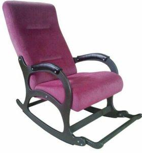 """Кресло-качалка """"Престиж"""", бордовый микровелюр"""