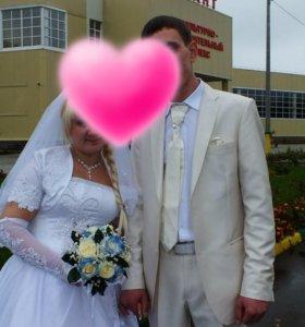 Свадебное платье и костюм мужской свадебный