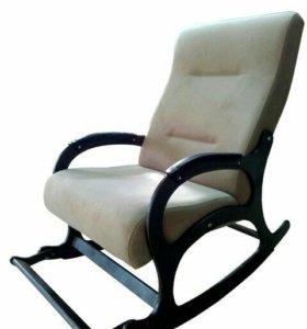 """Кресло-качалка """"Престиж"""", светло-коричневый флок"""