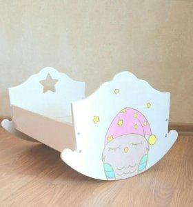 Кровать-качалка для куклы