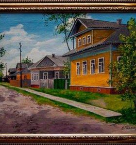 Картина акриловыми красками на холсте
