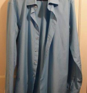 Рубашка мужская с длинным рукавом (новая), XL