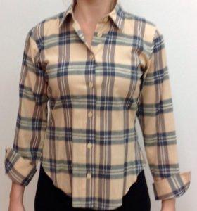 Рубашка льняная приталенная