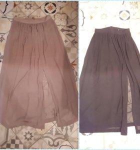 Шифоновая юбка длинная