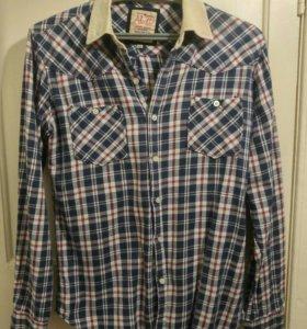 Фланелевая рубашка с длинным рукавом, размер L