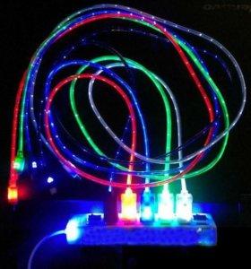 Светящийся USB-microUSB кабель