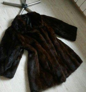 Норковая шуба 46 размер удовл.сост.